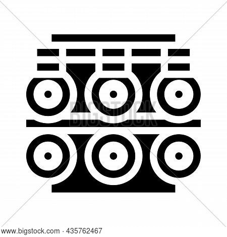 Metal List Production Industry Machine Glyph Icon Vector. Metal List Production Industry Machine Sig