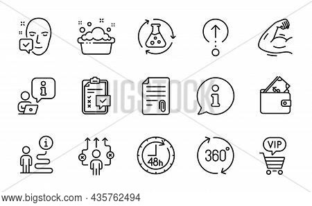 Business Icons Set. Included Icon As Vip Shopping, Face Accepted, Swipe Up Signs. Business Way, Chem