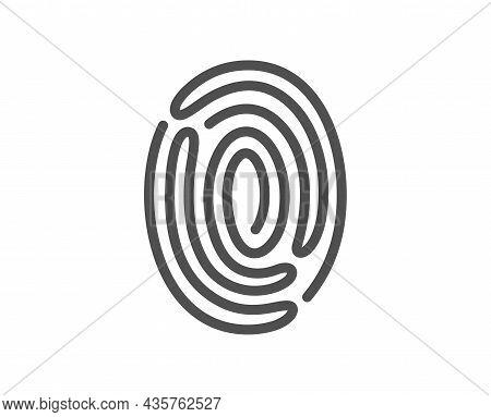 Fingerprint Line Icon. Digital Finger Print Sign. Biometric Scan Symbol. Quality Design Element. Lin