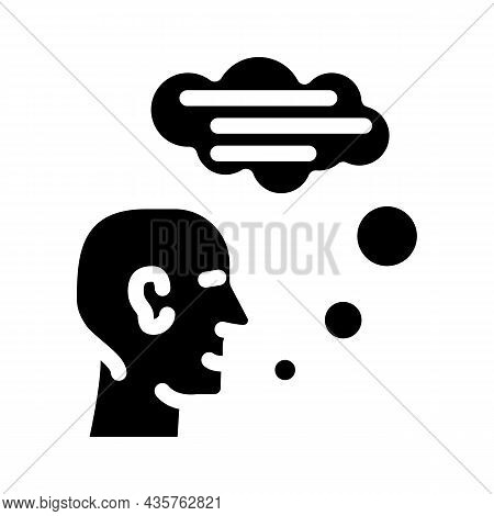 Speaking Human Glyph Icon Vector. Speaking Human Sign. Isolated Contour Symbol Black Illustration