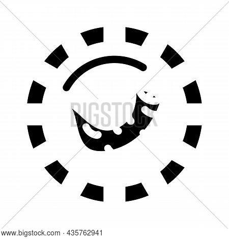 Pepper Round Scale Glyph Icon Vector. Pepper Round Scale Sign. Isolated Contour Symbol Black Illustr