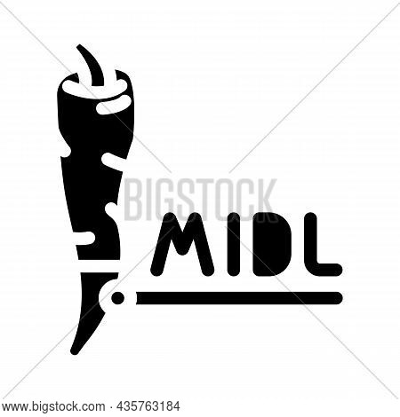 Middle Pepper Glyph Icon Vector. Middle Pepper Sign. Isolated Contour Symbol Black Illustration