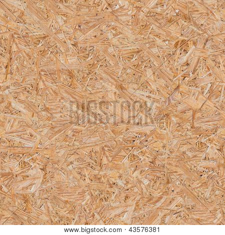 Pressed Wooden Panel (OSB). Seamless Tileable Texture. poster