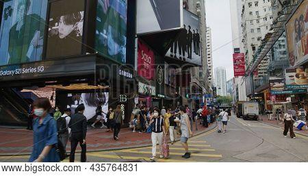 Causeway Bay, Hong Kong 14 May 2021: Hong Kong commercial district in Hong Kong