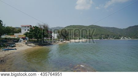 Mui Wo, Hong Kong 25 April 2021: Sand beach