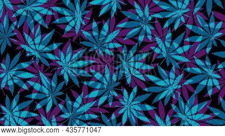 Marijuana Leafs Or Cannabis Leafs Weed Pattern