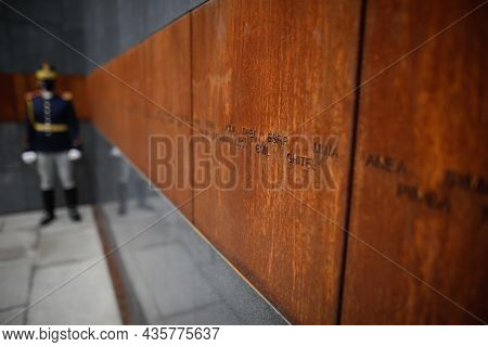 Bucharest, Romania - October 11, 2021:shallow Depth Of Field (selective Focus) Image With Holocaust