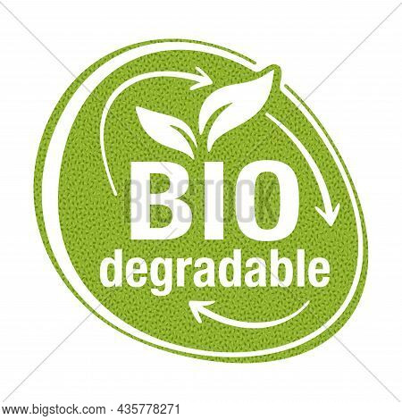Speech Bubble - Biodegradable Polymers Sign - Eco Friendly Compostable Material Production, Environm