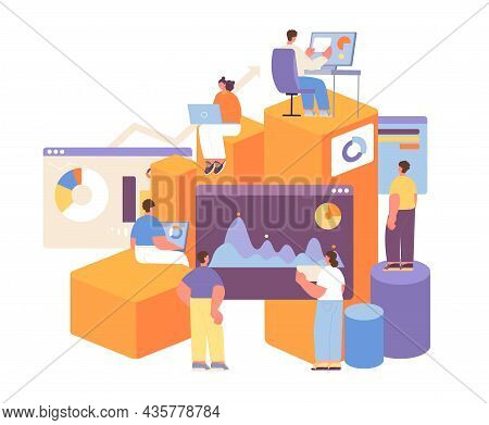 People And Statistics Concept. Statistical Forecasting, Financial Predict. Business Measure, Economy