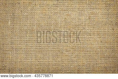 Brown Canvas Texture With Real Linen Threads On Canvas With Beautiful Linen Texture On Canvas As Sam
