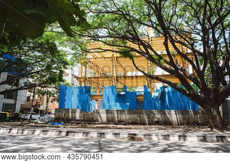 Commercial Building Under Constructions In The Central Of Bangalore