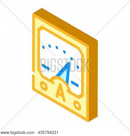 Ammeter Tool Isometric Icon Vector. Ammeter Tool Sign. Isolated Symbol Illustration
