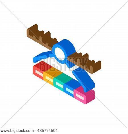 Spectrum Range Electromagnetic Isometric Icon Vector. Spectrum Range Electromagnetic Sign. Isolated