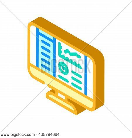 Reporting System Isometric Icon Vector. Reporting System Sign. Isolated Symbol Illustration