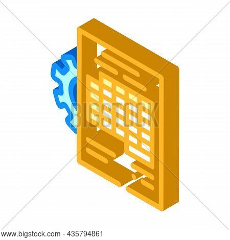 Accounting Working Process Erp Isometric Icon Vector. Accounting Working Process Erp Sign. Isolated