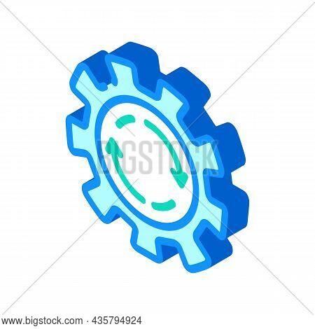Cogwheel Erp Isometric Icon Vector. Cogwheel Erp Sign. Isolated Symbol Illustration