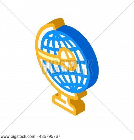 Globe For Researching Business Globalization Isometric Icon Vector. Globe For Researching Business G