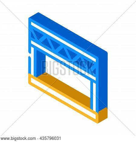 Stage Metal Frame Isometric Icon Vector. Stage Metal Frame Sign. Isolated Symbol Illustration