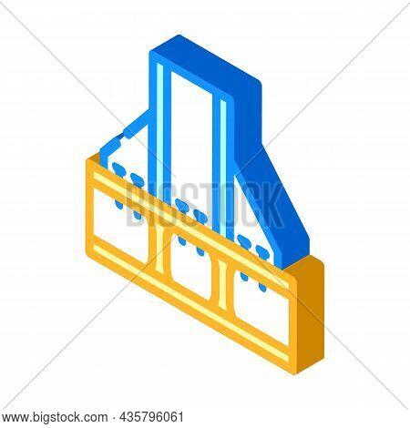 Foundation Metallic Frame Isometric Icon Vector. Foundation Metallic Frame Sign. Isolated Symbol Ill