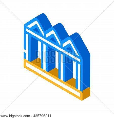 Construction Metallic Material Frame Isometric Icon Vector. Construction Metallic Material Frame Sig