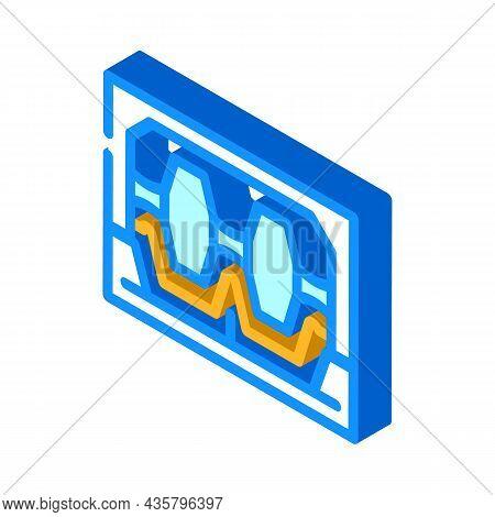 Industrial Machine For Metal Part Production Isometric Icon Vector. Industrial Machine For Metal Par