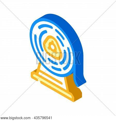 Metal List Roll Isometric Icon Vector. Metal List Roll Sign. Isolated Symbol Illustration