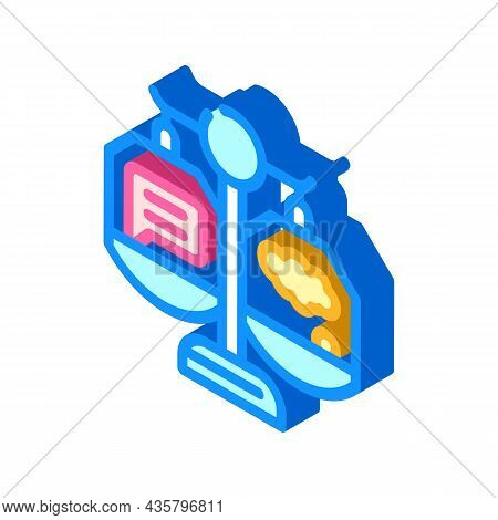 Weighing Opinions Isometric Icon Vector. Weighing Opinions Sign. Isolated Symbol Illustration