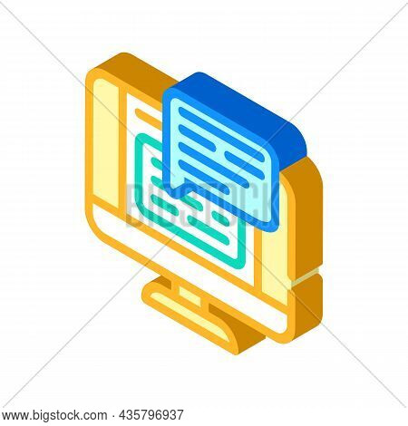 Web Conversation Chat Isometric Icon Vector. Web Conversation Chat Sign. Isolated Symbol Illustratio