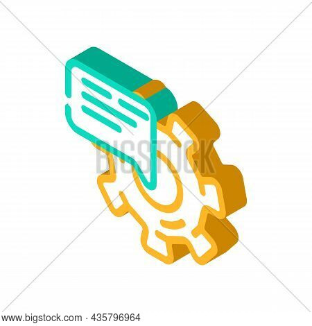 Support Communication Isometric Icon Vector. Support Communication Sign. Isolated Symbol Illustratio