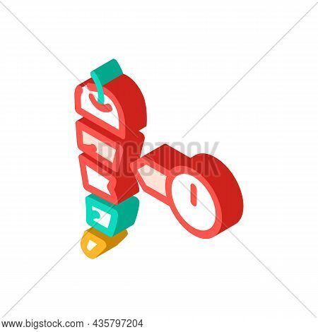 Cut Pepper Scale Isometric Icon Vector. Cut Pepper Scale Sign. Isolated Symbol Illustration