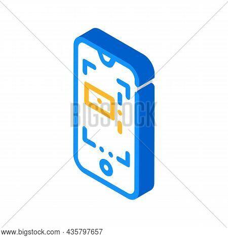Autofocus Photo Camera Isometric Icon Vector. Autofocus Photo Camera Sign. Isolated Symbol Illustrat