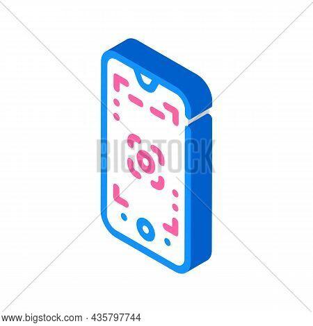 Macro Photography Phone Camera Isometric Icon Vector. Macro Photography Phone Camera Sign. Isolated