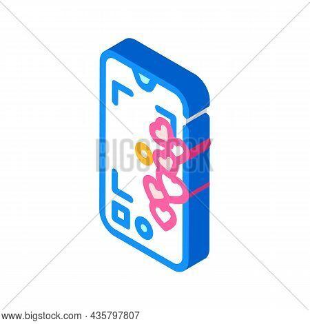 Likes Online Social Media Isometric Icon Vector. Likes Online Social Media Sign. Isolated Symbol Ill
