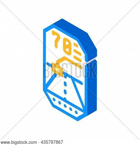 Road Lidar Viewfinder Isometric Icon Vector. Road Lidar Viewfinder Sign. Isolated Symbol Illustratio