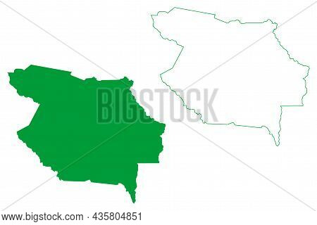 Baixa Grande Municipality (bahia State, Municipalities Of Brazil, Federative Republic Of Brazil) Map