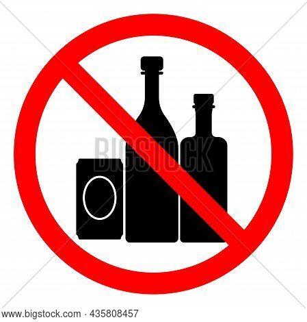 No Alcohol Symbol Sign ,vector Illustration, Isolate On White Background Label .eps10