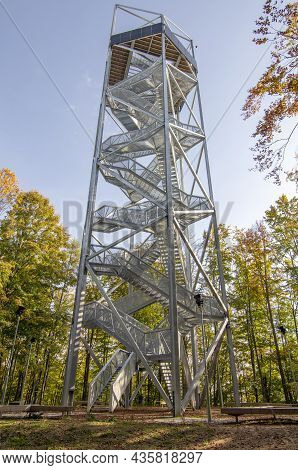 Lookout Tower Or Observation Tower In Horne Lazy, Brezno, Slovakia.