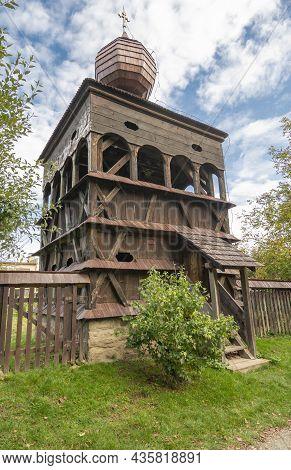 The Wooden  Articular Belfry In Hronsek, Banska Bystrica, Slovakia. Unesco World Heritage Site.