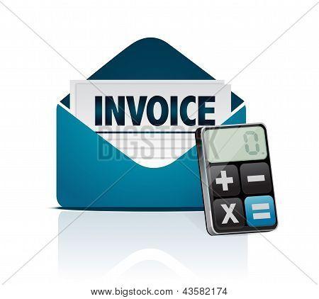 Invoice And Modern Calculator