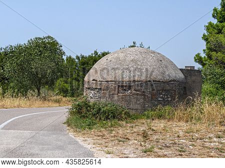 A Concrete Bunker From The Second World War.