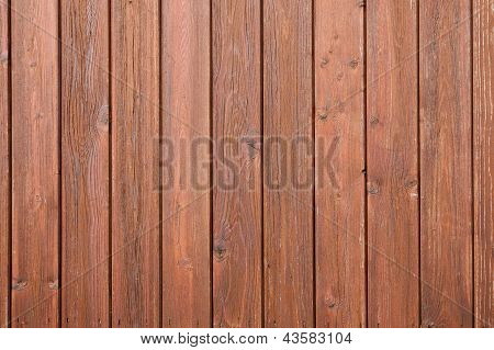 part of fencing with brown varnish