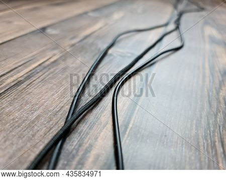 The Device Wires. Black Wires. Electric Wires.