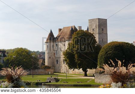 View Of The Nemours Medieval Castle In France