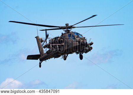 Volkel, Netherlands - June 15, 2013: Military Helicopter At Air Base. Air Force Flight Operation. Av