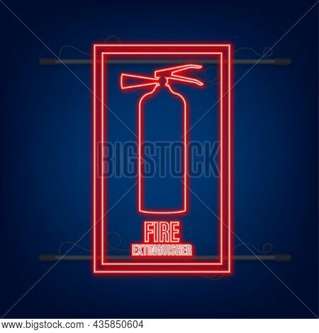 Fire Extinguisher Aimed At The Fire. Protection Symbol