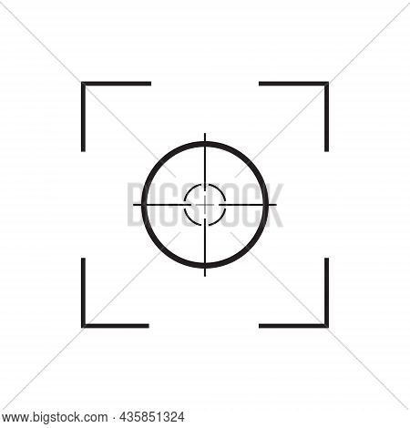 Focus Of Camera. Icon Of Frame, Lens, Capture And Target Of Camera. Symbol Of Photo And Video. Graph