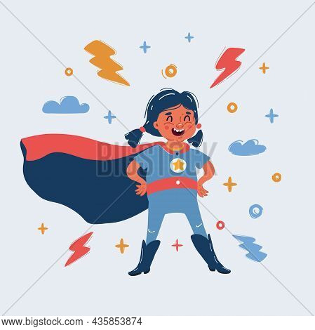 Vector Illustration Of Illustration Of Super Hero Girl