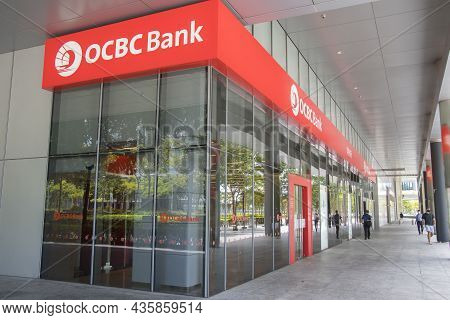 Singapore- 11 Oct, 2021: Ocbc Bank, Oversea Chinese Banking Corporation, In Singapore. Ocbc Bank Is