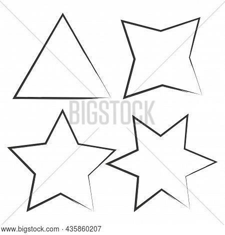 Ink Angle Silhouette. Geometric Figure Icon. Basic Math Element. School Education. Vector Illustrati