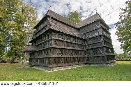 The Wooden Protestant Articular Church In Hronsek, Banska Bystrica, Slovakia. Unesco World Heritage